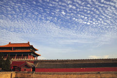 Cloudscape over ancient chinese building Stock Photo