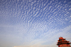 Cloudscape over ancient chinese building Royalty Free Stock Image