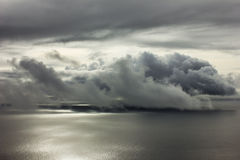 Cloudscape over the Atlantic ocean Royalty Free Stock Photography