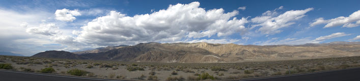 Cloudscape over Death Valley Desert, California Royalty Free Stock Photos