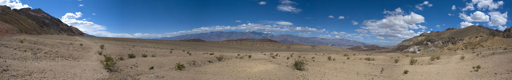 Cloudscape over Death Valley Desert, California Stock Images