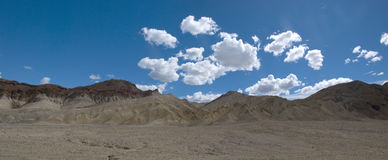 Cloudscape over Death Valley Desert, California Royalty Free Stock Photo