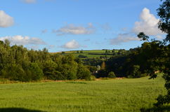 Cloudscape over the fields of North Devon Royalty Free Stock Photo