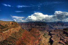 Cloudscape over Grand Canyon Royalty Free Stock Photo