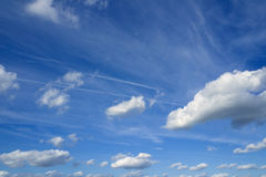Cloudscape over horizon. Heaven. Royalty Free Stock Photography