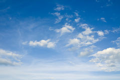 Cloudscape over horizon. Heaven. Royalty Free Stock Image