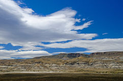 Cloudscape over La Leona Hills, South Patagonia, Argentina Royalty Free Stock Image