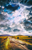 Cloudscape over land Stock Images