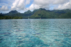 Cloudscape over Moorea. Royalty Free Stock Photography