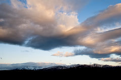 Cloudscape over mountains Royalty Free Stock Photo