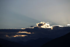 Cloudscape over mountains Stock Photography
