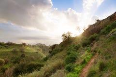 Cloudscape over platteland stock afbeelding