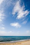 Cloudscape over sandy beach Stock Photography