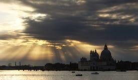 Cloudscape over Santa Maria della Salute church Stock Image