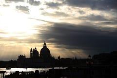 Cloudscape over Santa Maria della Salute Royalty Free Stock Photo