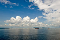 Cloudscape over scenic ocean Stock Photos