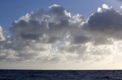 Cloudscape over sea Royalty Free Stock Photography