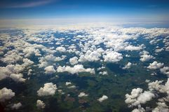 Cloudscape over the UK. Stock Photos