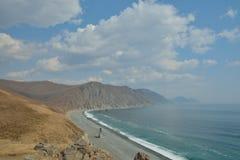 Cloudscape på hav-kust 3 Arkivbild