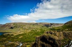 Cloudscape på Island Westfjords Arkivbild