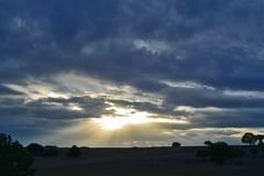 Cloudscape på solnedgång Arkivbilder