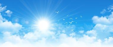 Cloudscape panorâmico imagens de stock