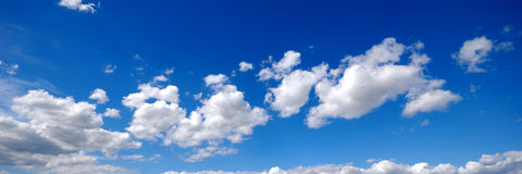 Cloudscape panorama Royalty Free Stock Images