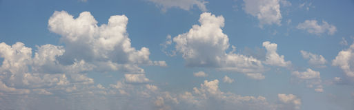 Cloudscape panorama. Design elements, cloudscape panorama, African sky, nature series Royalty Free Stock Photo