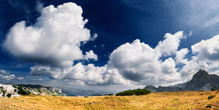Cloudscape panorama - mountain landscape Royalty Free Stock Photography