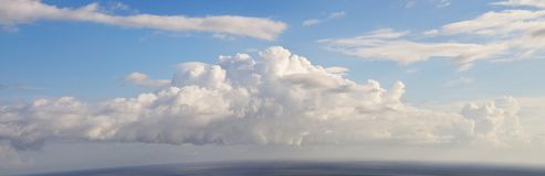 Cloudscape panoramic Royalty Free Stock Photo