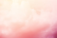 Cloudscape with pastel gradient color, abstract background Stock Photography