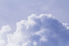 Cloudscape photo background. Romantic skyscape with raincloud. Stormy cloud on sunny sky. Stock Image