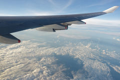 Cloudscape from plane Royalty Free Stock Photography