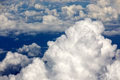 Cloudscape from plane Royalty Free Stock Photos