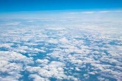 cloudscape powietrzny widok Zdjęcia Stock