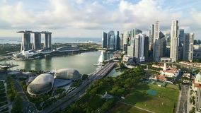 Cloudscape przy Singapur zbiory wideo