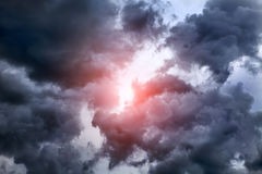Cloudscape with Ray of Light Royalty Free Stock Photo