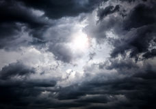Cloudscape with Ray of Light Stock Images