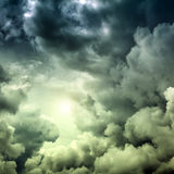 Cloudscape with Ray of Light Stock Image