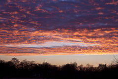 Cloudscape and red sunrise Royalty Free Stock Image