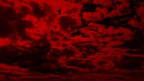 Cloudscape rojo extenso almacen de video