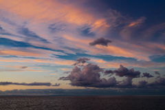 Cloudscape on the sea. Cloudscape after sunset on the sea of Japan Stock Image