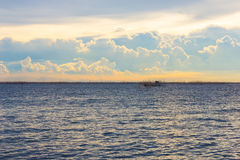 Cloudscape and sea view twilight sky Royalty Free Stock Photo