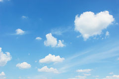 Cloudscape-shape of heart Stock Photography