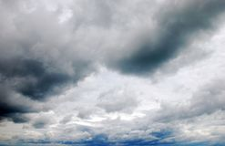 Cloudscape sky. Stormy cloudscape sky making a background Stock Images