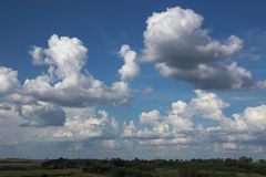 Cloudscape sky cloud background nature freedom air scenic blue stock image
