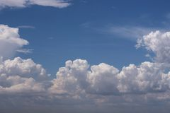 Cloudscape sky cloud background nature freedom air scenic royalty free stock image