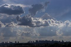 Cloudscape sky cloud background nature freedom air scenic royalty free stock photography