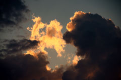 Cloudscape in the sky. Royalty Free Stock Image