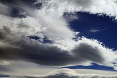 Cloudscape. Of smeared, featherlike, clouds Stock Images